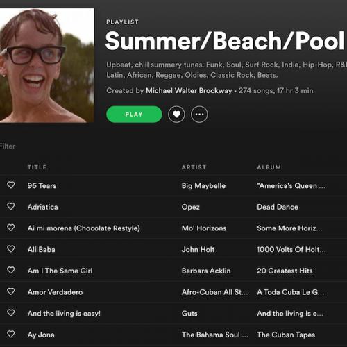 Summer/Beach/Pool Playlist
